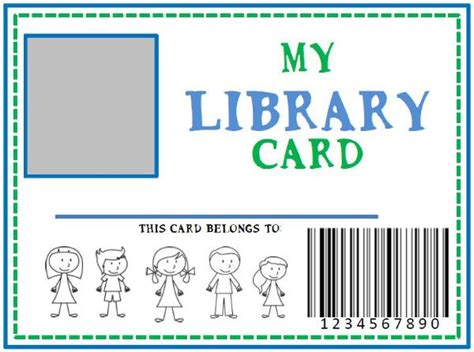 i got my library card template family library diy pretend library card she