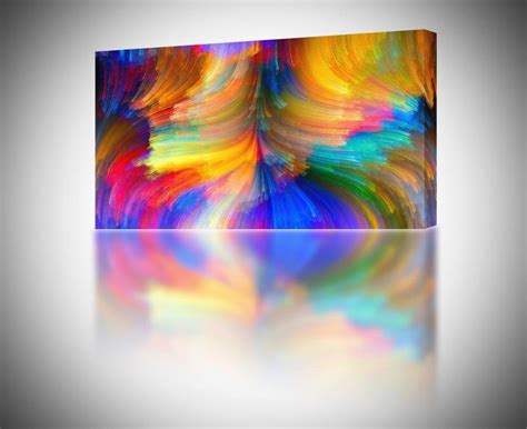 4 sizes abstract brush strokes colorful canvas print