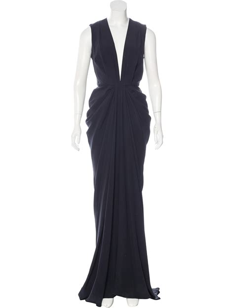 draped evening dress thakoon draped evening dress clothing wthak24934 the
