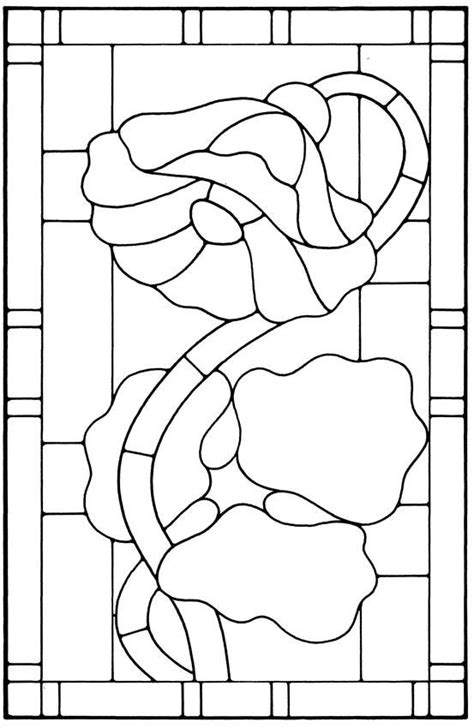 Floral Stained Glass Pattern Book 1725 best stained glass patterns images on