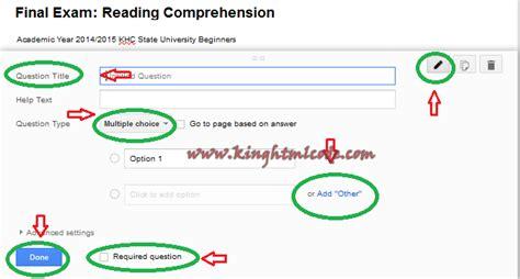 membuat soal online dengan google drive cara mudah membuat kuis atau soal ujian online melalui