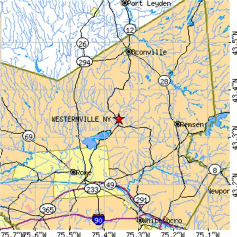 zip code map western ny westernville new york ny population data races
