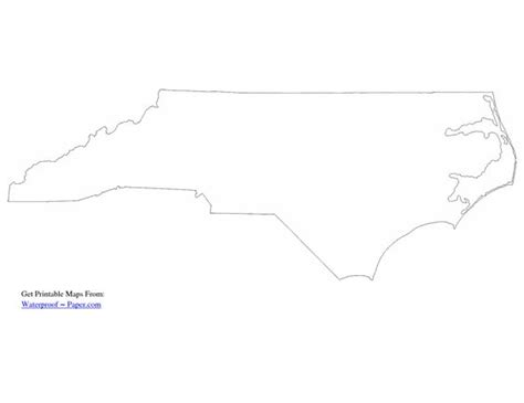 How To Draw The Outline Of Carolina by Carolina Map Outline Drawing Free Printable Carolina Map And