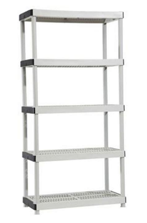 homde depot heavy duty 5 shelf durable plastic shelf unit