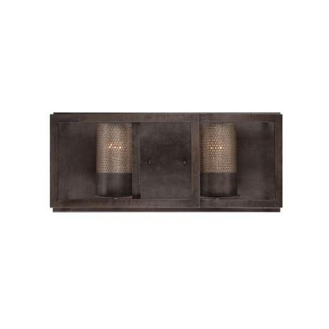 home depot rustic lighting varaluz jackson 2 light rustic bronze vanity light with