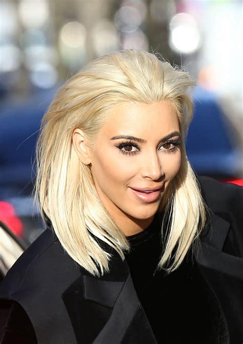 best shoo blond 2015 kim kardashian goes blonde out in paris march 2015
