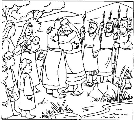 coloring page jacob and esau esau and jacob free coloring pages on art coloring pages
