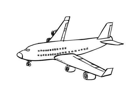 737 Coloring Page by Boeing 737 Airplane Coloring Page Printable