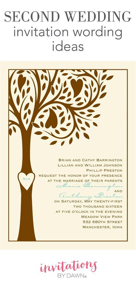 Second wedding invitation wording might seem like a tricky
