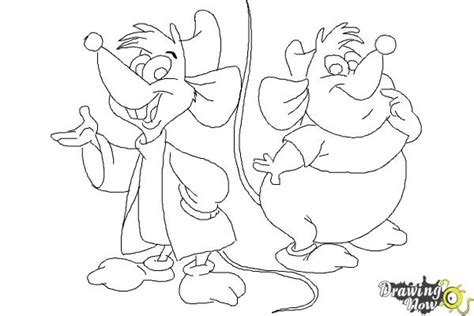 how to draw gus gus and jaq from cinderella drawingnow