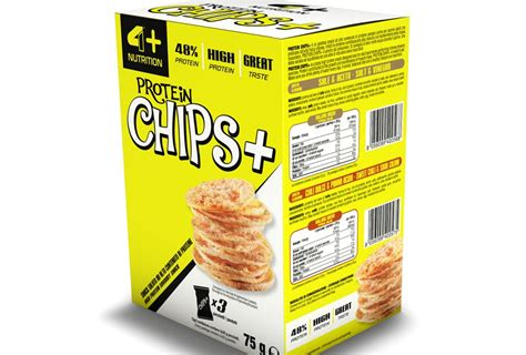12g carbohydrates 4 protein chips packing 12g of protein with just 92 calories