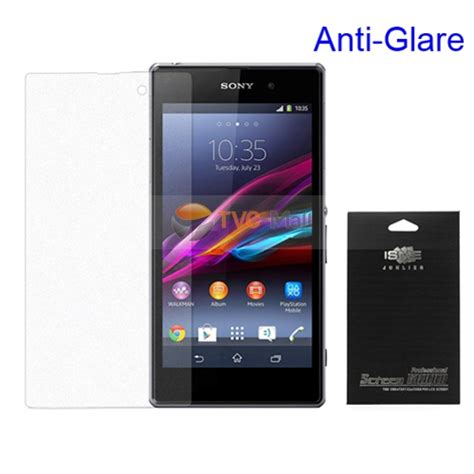 matte anti glare screen guard for sony xperia z1 honami c6903 c6902 l39h with package tvc