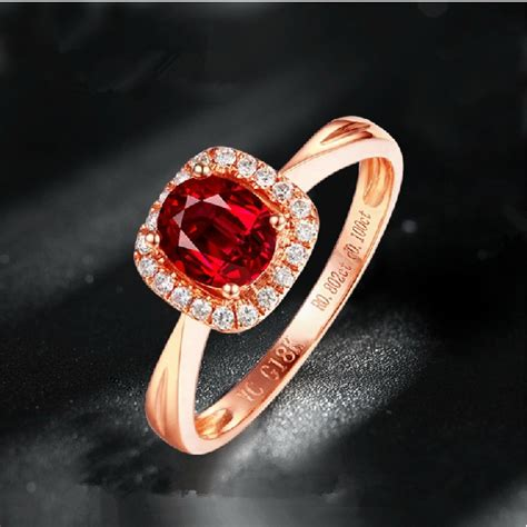 Ruby 6 65 Ct luxurious engagement ring 0 65ct real