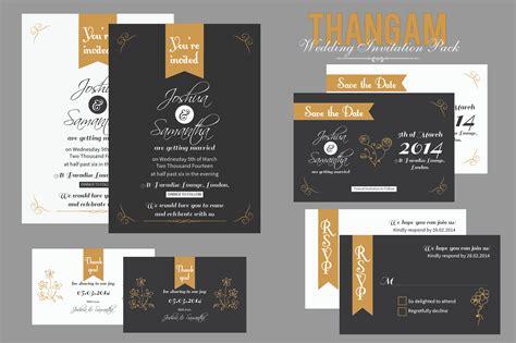 Wedding Invitation Packs by Thangam Wedding Invitation Pack Invitation Templates On