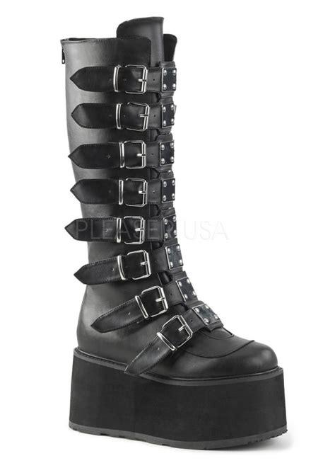 demonia damned 518 knee high platform boot attitude clothing