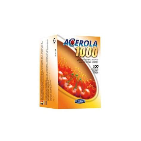 Acerola C Mengandung 100 Mg Vitamin C orthonat acerola 1000mg vitamin c 100 tablets farmacia internacional