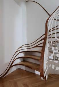 New Handrail Stairs by Banister Bending Staircases Take Handrails To New Heights