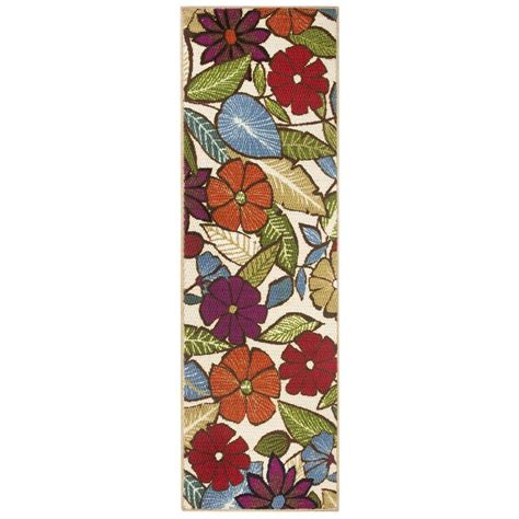 accent rugs and runners modern living flowers multi 1 ft 8 in x 5 ft accent rug