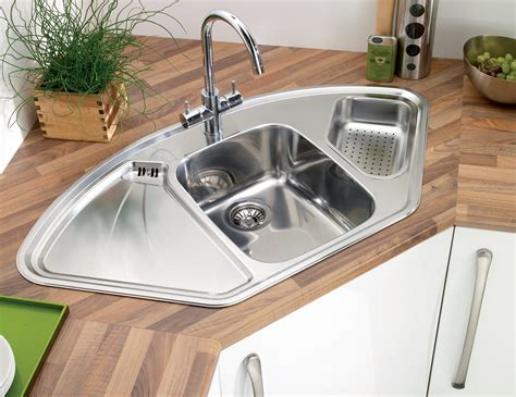 stainless steel corner sink astracast lausanne 1 5 bowl polished stainless steel