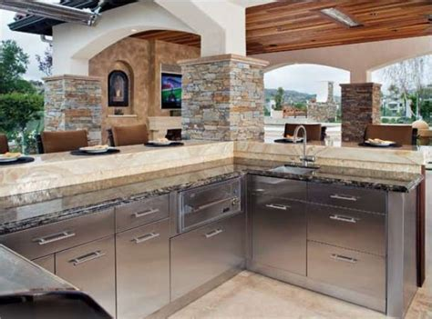 outdoor kitchen cabinets stainless steel mode concrete stainless steel outdoor cabinets