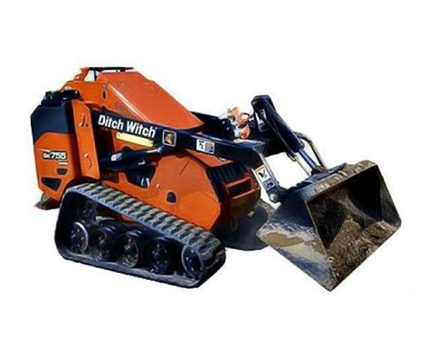 rent ditch witch sk mini track loader rentals  day