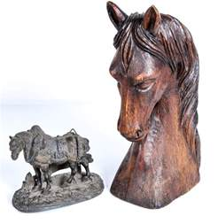 Horse Home Decor by Pair Of Vintage Horse Themed Home Decor Ebth