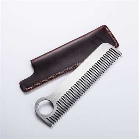 titanium comb titanium comb horween leather sheath