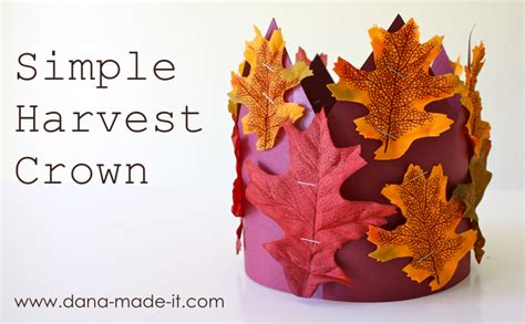 harvest craft ideas for harvest crown made everyday