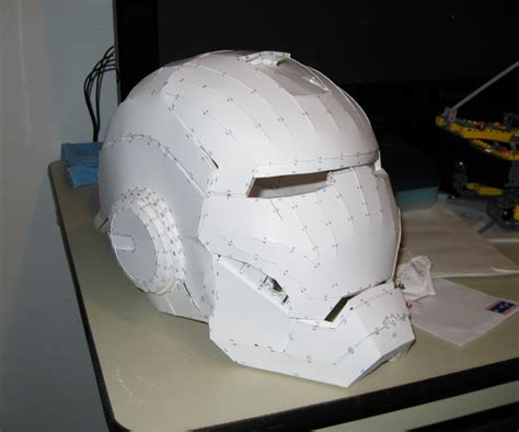 Papercraft Ironman Helmet - iron papercraft helmet by vitaminzinc on deviantart