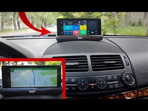 dashboard camera android 5 1080p dual camera and gps, 7