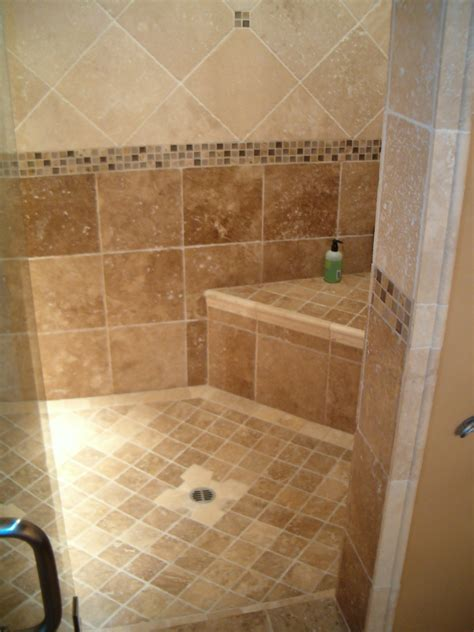 Pictures Of Tiled Showers And Bathrooms Bathroom Tile Ideas Photos The Finished Shower Is Sealed For Low Maintenance Bathroom