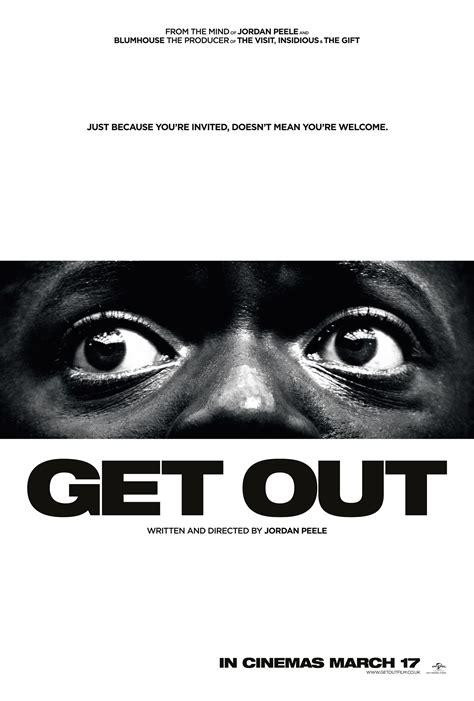 get out get out 2017 poster 3 trailer addict