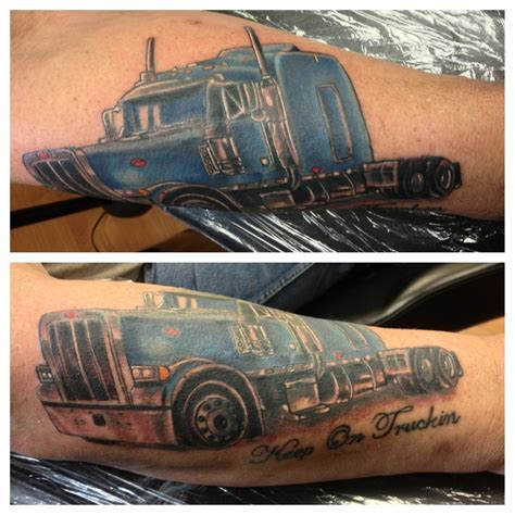 Tattoo Of Us Trailer | tractor trailer tattoo i did today inkspiration