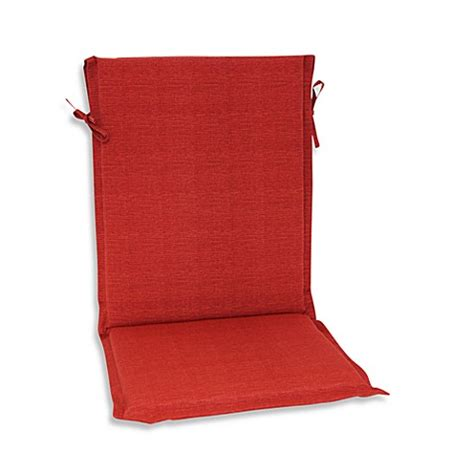 Outdoor Sling Back Chair Cushion in Cherry   Bed Bath & Beyond
