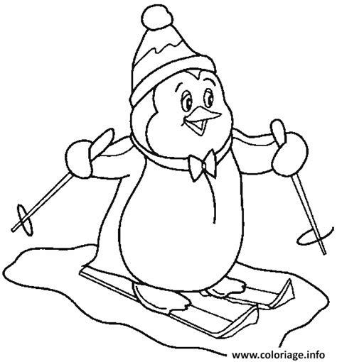 Coloriage Pingouin De Noel Hiver Dessin