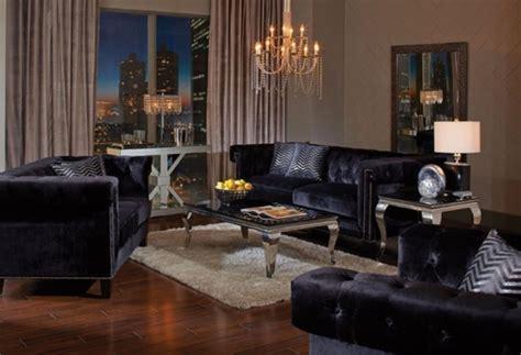 abildgaard sofa  black velvet upholstery  coaster