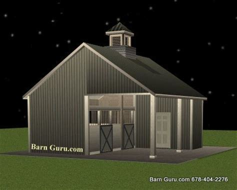 2 horse barn with feed room cheap plans single stall two stall horse barn with run in horse barn plans