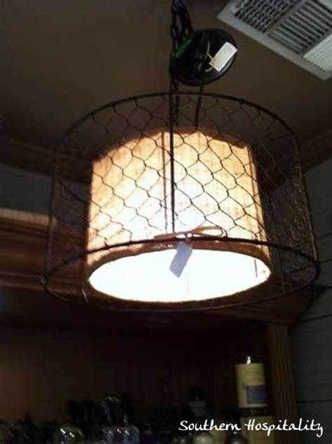 Wire Basket Light Fixture White Rabbit Cottage Kennesaw Ga