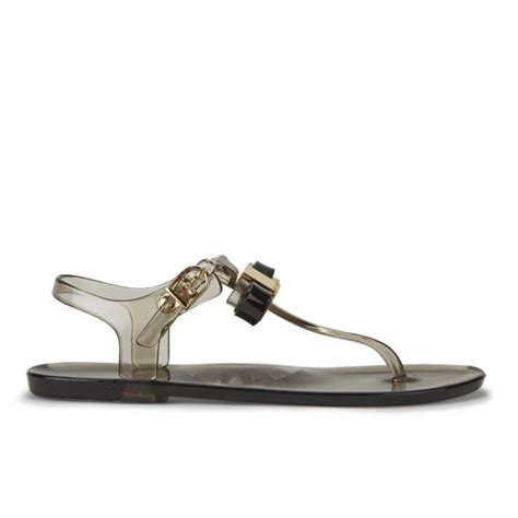 Ted Baker Jelly Sandal ted baker s deynaa jelly bow sandals black free uk delivery allsole