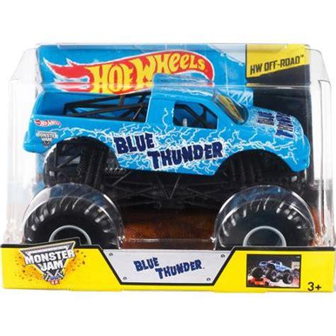 walmart monster jam trucks wheels monster jam 1 24 blue thunder die cast vehicle