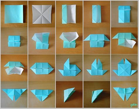 How To Fold Origami Butterfly - tutorial origami butterfly