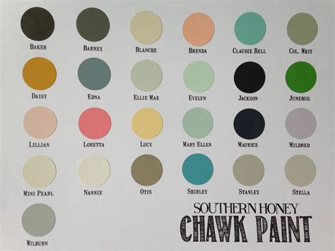 Color chart southern honey texas