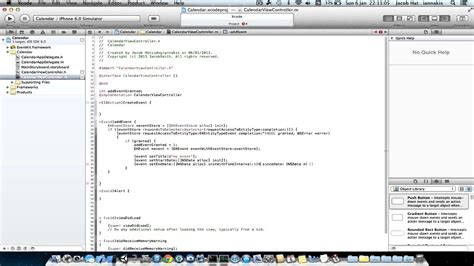 Calendar Xcode Xcode Adding Events To Calendar Programatically In Ios 6