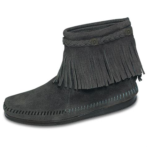 s minnetonka hi top back zip boot 141686 casual shoes at sportsman s guide