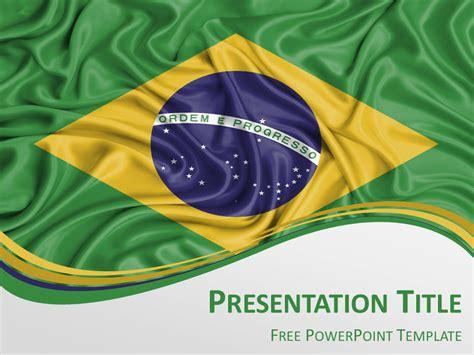 brazil flag powerpoint template presentationgo com
