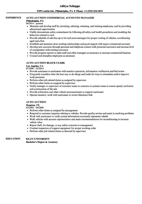 Auto Damage Appraiser Cover Letter by Vehicle Title Clerk Sle Resume Perioperative Sle Resume