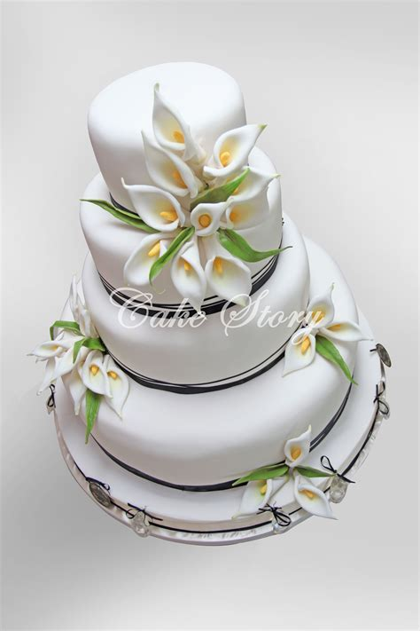 Calla lily wedding cake   WEDDING CAKES   Pinterest