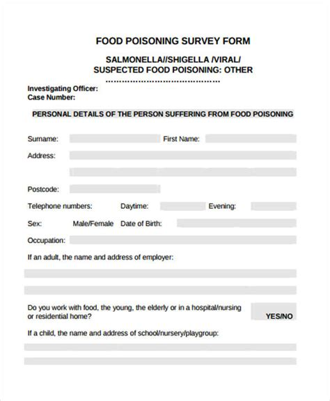 food survey template etame mibawa co