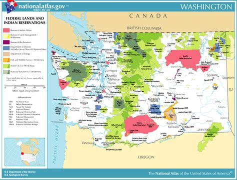 indian reservations usa map map of washington map federal lands and indian