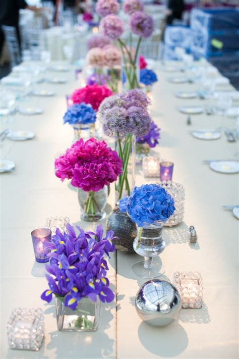 165 Best Images About Diy Wedding Centerpieces On Pinterest Blue And Purple Centerpieces For Weddings